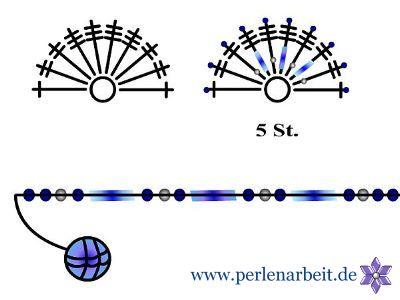Perlenarbeit - Stiefmütterchen mit Perlen. Häkeltechnik