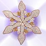 Perlenarbeit. Schneeflocke aus Perlen basteln mit Anleitung