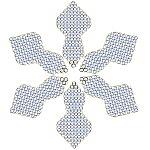 perlenarbeit schneeflocke aus perlen basteln mit anleitung. Black Bedroom Furniture Sets. Home Design Ideas